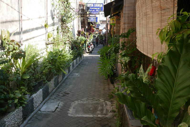 Backpacker-Viertel in Yogya