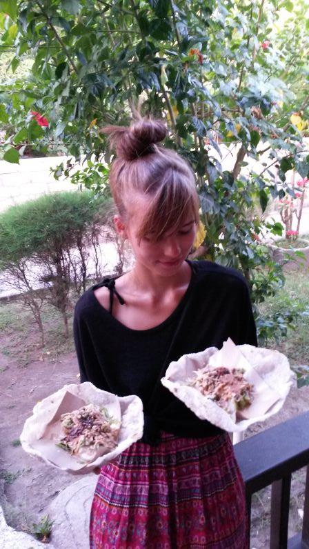 Gado-Gado zum Mitnehmen (weil Ramadan war, durften wir es nicht an der Straße essen)