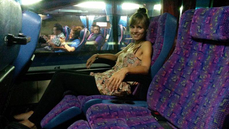 Superbequeme Sitze im Nachtbus