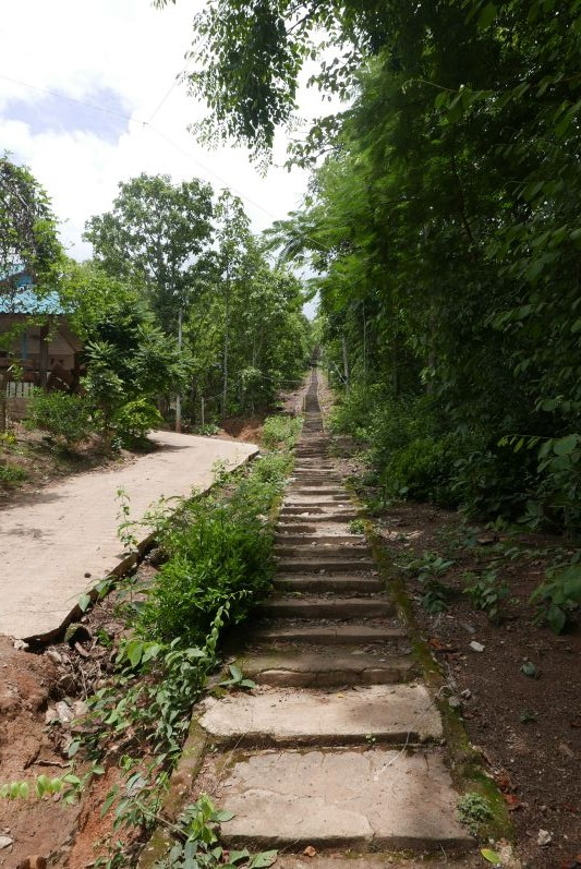 Die erste Treppe...