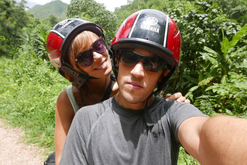 Moped-Selfie