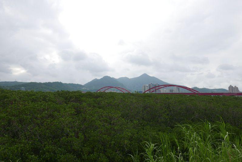 Über die rote Brücke sind wir nach Bali gefahren