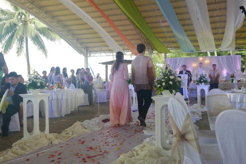 Basti und eine Brautjungfer
