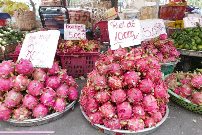 Auch in Vitenam gibt es leckere Drachenfrüchte
