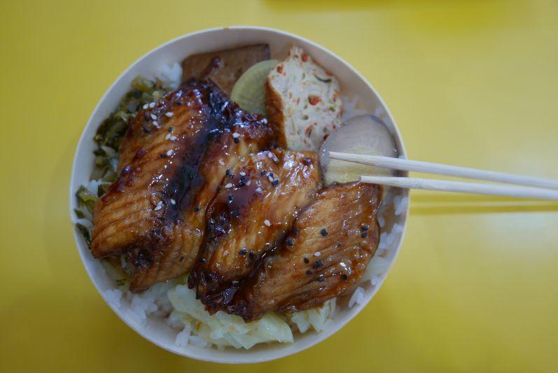 Reisbox mit Fisch