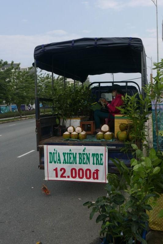 Kokosnuss-/Blumen-Verkaufswagen