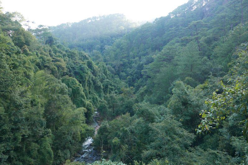 Aussicht am zweiten Wasserfall