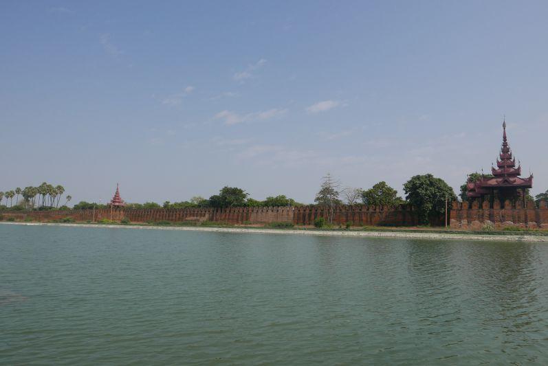 Ein Teil der Palastmauer