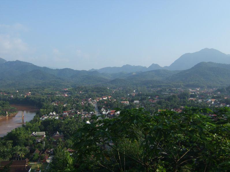 Aussicht vom Berg Phou SI