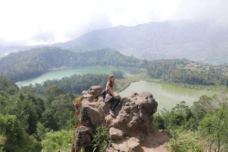 Diese tolle Aussicht hatten wir in Dieng (Java)