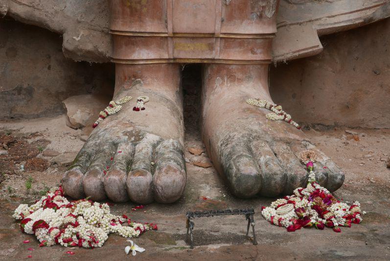 Buddha-Füße in Alt-Sukhothai (Thailand)