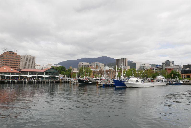Und so sieht's in Hobart aus...