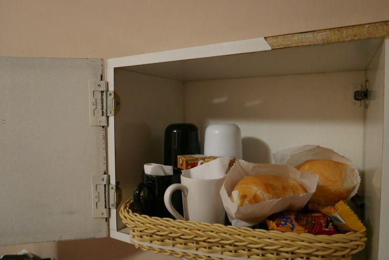 Unsere Frühstücks-Klappe im Hotelzimmer