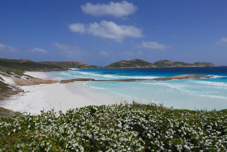 Die atemberaubende Lucky Bay im Cape Le Grand Nationalpark, WA
