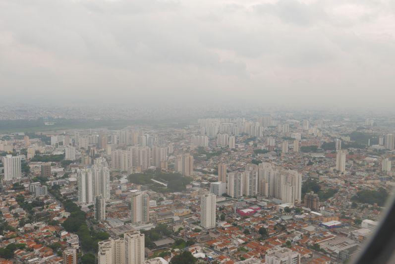 Sao Paulo aus dem Flugzeug fotografiert